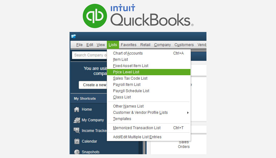 Quickbooks Price Levels Setup