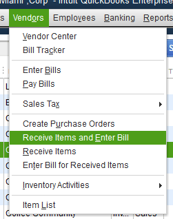 Quickbooks Inventory Control Step 11