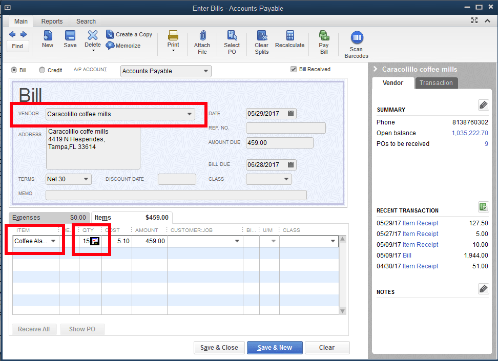 Quickbooks Inventory Control Step 12